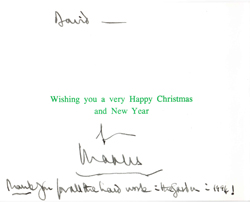 note the difference in the signature on the two cards is different hand signed not auto pen 450000 plus postage order - How To Sign A Christmas Card